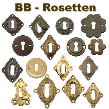 Shiny square nickel door rosette metal mount modern nostalgic design – image 2