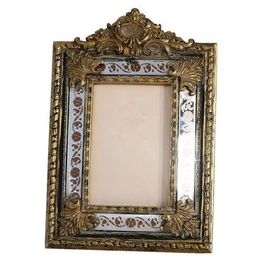 Mirror picture frame antique baroque design ornaments