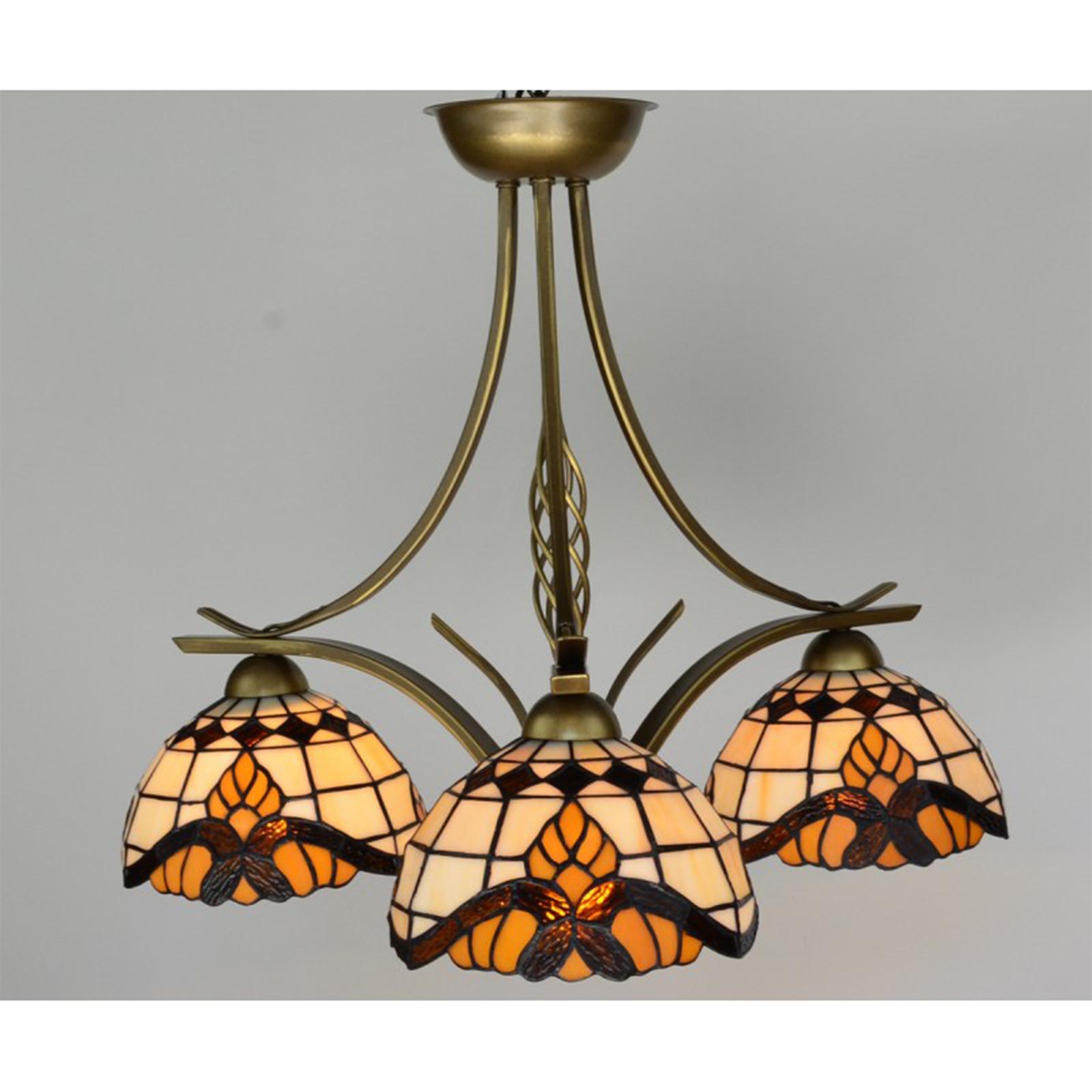 deckenlampe im tiffany stil klassik barock 3 flammige leuchte g nstig kaufen. Black Bedroom Furniture Sets. Home Design Ideas