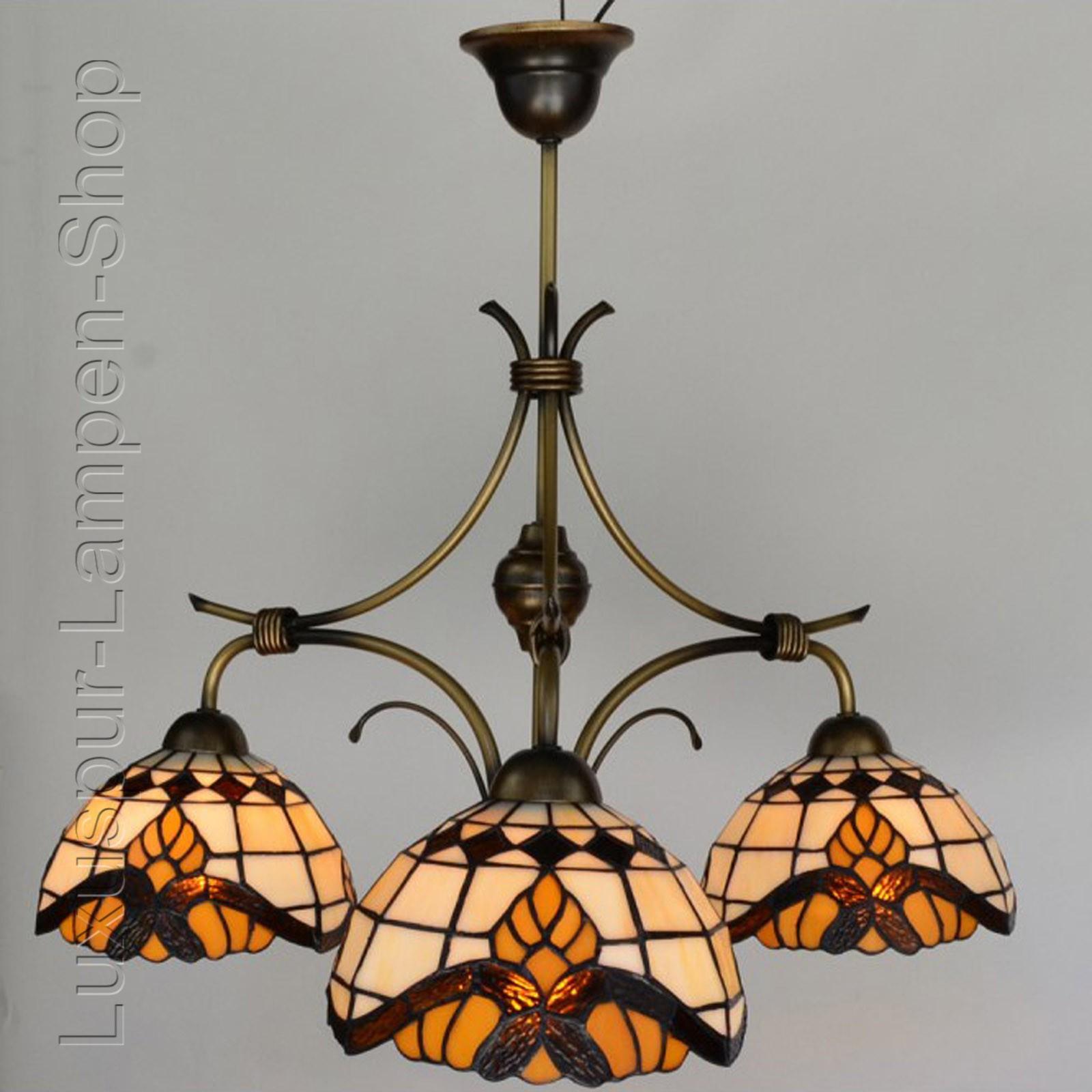 Hängende Deckenlampe Im Tiffany Stil U0026quot;Antik Barocku0026quot;   3flammige  Leuchte U2013 Bild 1