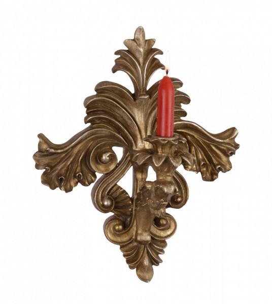 kerzenhalter resin ornament wand deckoration kerze gold antik desin wohnaccessoire. Black Bedroom Furniture Sets. Home Design Ideas