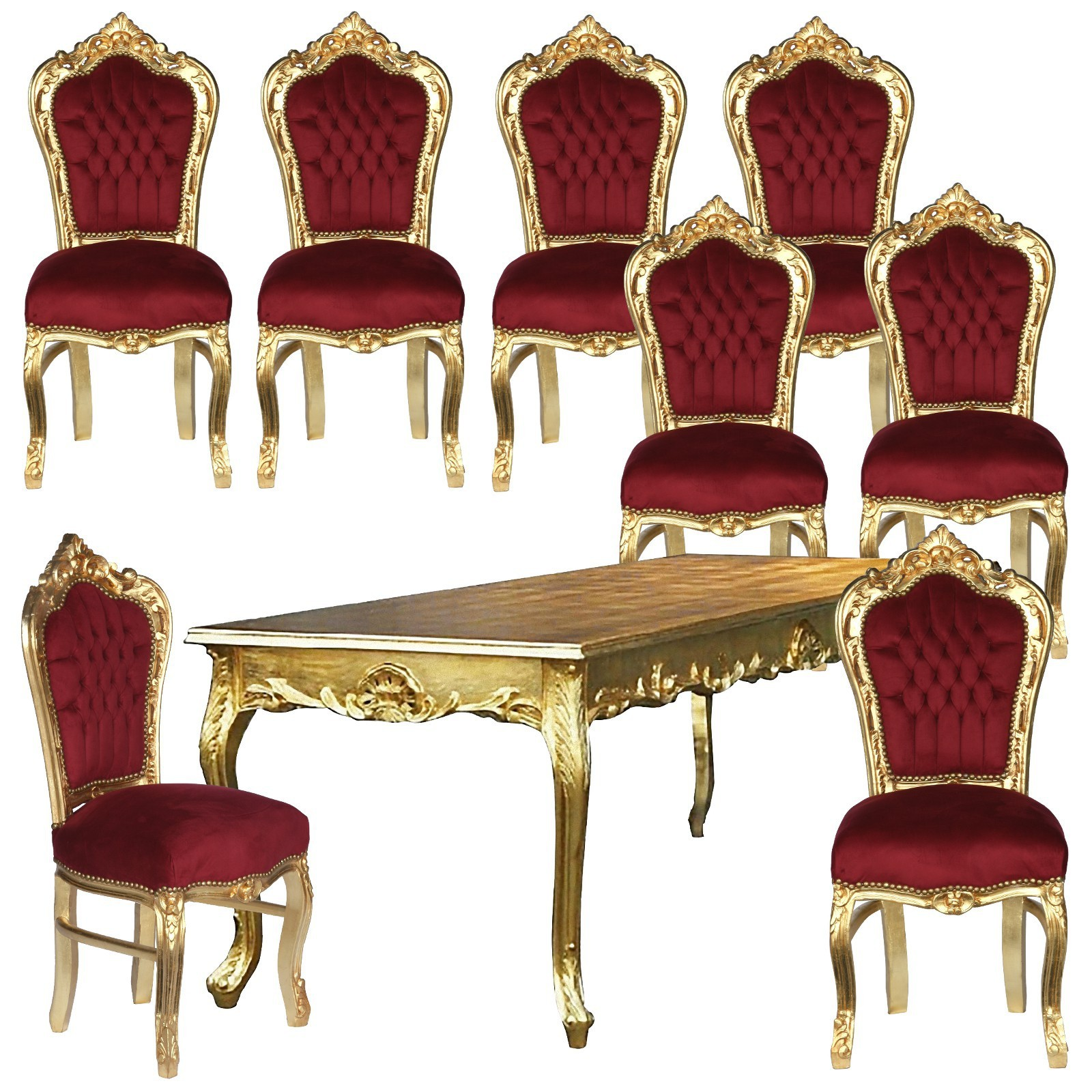 Antike möbel tische und stühle  Antike Essgruppe Speisezimmer Barockmöbel Set Angebot Stühle & Tisch ...