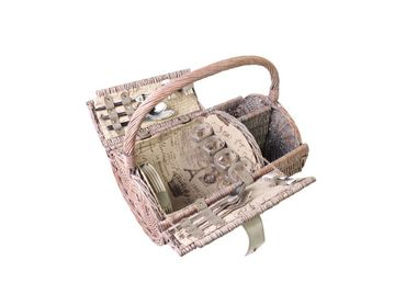 4 person picnic basket antique style got everything you need – image 1