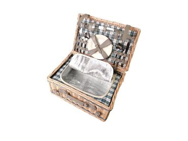 2 person picnic basket fully equipped cool times  – image 1