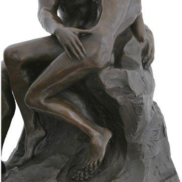 Bronze sculpture replica THE KISS large bronze figure 61cm/24,01 inches Couple on rocks – image 5
