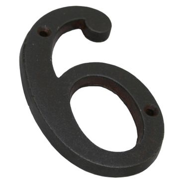 Antique house number 6 iron nostalgic home – image 3