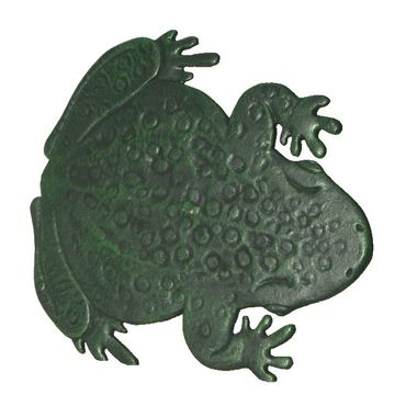 Frog shape tread pitch iron flowerpots in stepping stone for garden  – image 3