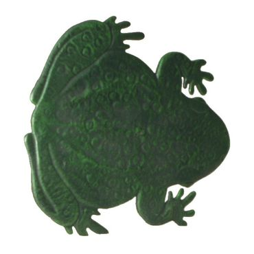Frog shape tread pitch iron flowerpots in stepping stone for garden  – image 4