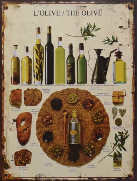 Olivenöl Blechschild Vintage Wanddeko Küchen Esszimmer Homedeko