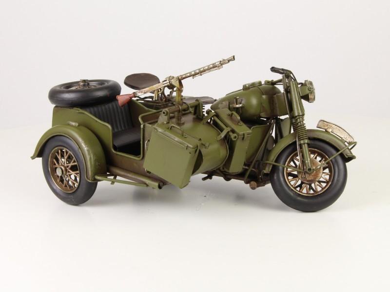 Oldtimer Armee Militärauto mit Beiwagen Auto Antik Deko Nostalgie ...