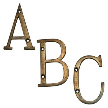 Big Letters house number patinized brass A-Z  – image 1