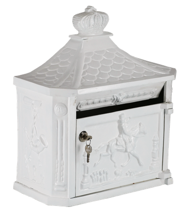 Mailbox antique design elegant aluminum white – image 3