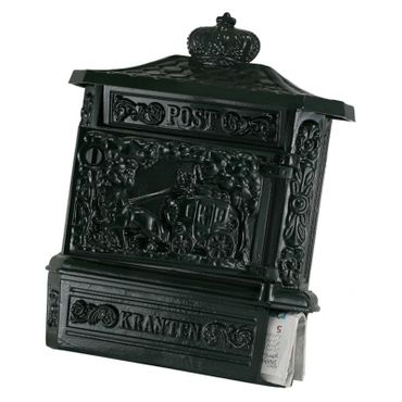 Mailbox antique green high quality aluminum antique design – image 3