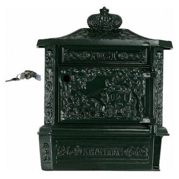 Mailbox antique green high quality aluminum antique design – image 1