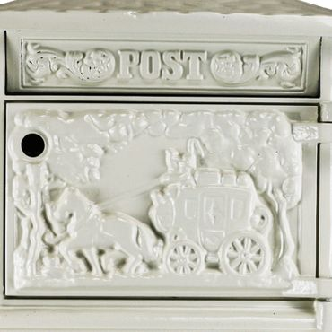 Antique mailbox letter box white elegant design  – image 4