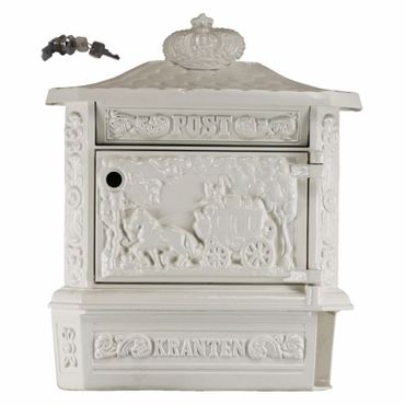 Antique mailbox letter box white elegant design  – image 1