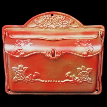 Mailbox antique design red gold silver nostalgic cast iron high quality – image 1