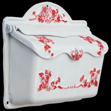 Mailbox white red design antique cast iron nostalgic high quality – image 2