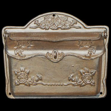 Baroque mailbox letter box gold silver antique look nostalgic cast iron – image 1