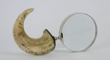 Hand magnifying glass horn reading glass reading help