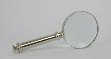 Magnifying glass silver frame reading help nickel coated office decoration