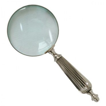 Antique reading help elegant design magnifying glass silver handle hobby