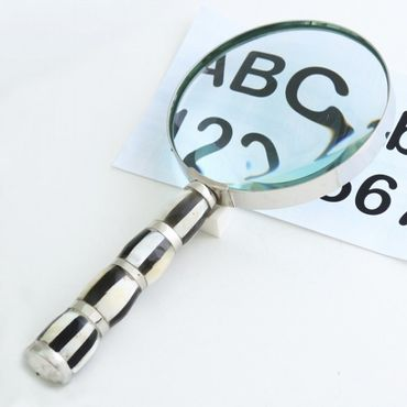 Luxury reading help accecory nickel magnifying glass