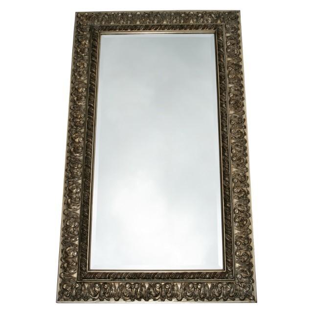 Massiver holz rahmen spiegel silber barock 60x120 for Spiegel 60x120