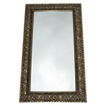 Solid wood frame mirror silver baroque silver 60x120/ 24x47 inches wall mirror