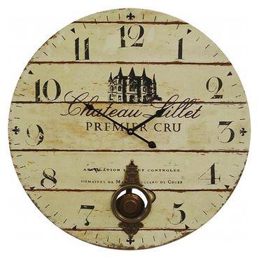 Premier Cru Chateau Lillet wall clock pendulum nostalgic castle