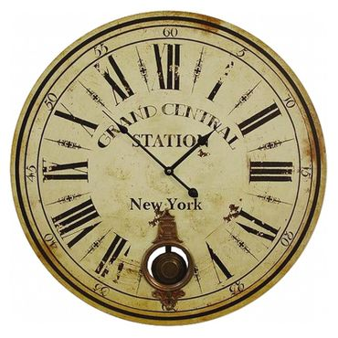 Grand Central Station trainstation wall clock antique look New York