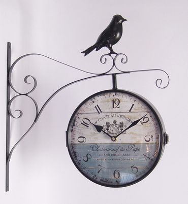 Metal station clock trainstaion retro bird antique