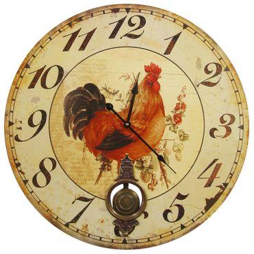 Chicken roster nostalgic wall clock pendulum
