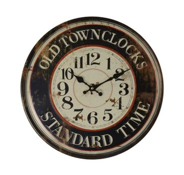 Round wall clock iron nostalgic antique decoration