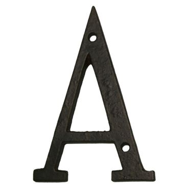 Antique iron letter house number metal A - Z  – image 2