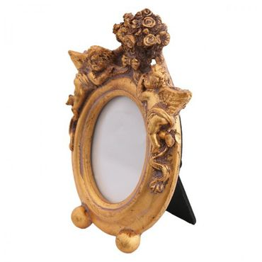 Baby picture frame antique design high quality oval frame gold elegant antique look shiny – image 2