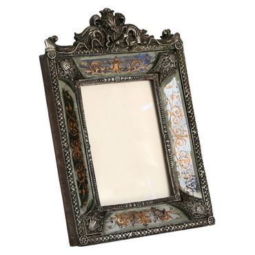 Silver picture frame baroque style antique look elegant design – image 2