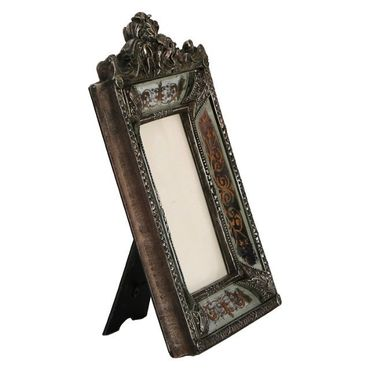 Silver picture frame baroque style antique look elegant design – image 3