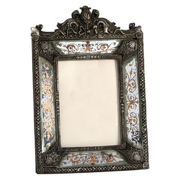 Silver picture frame baroque style antique look elegant design – image 1