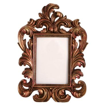 Nostalgic red gold picture frame antique  – image 1