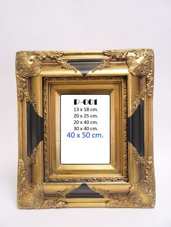 Golden picture frame resin wood oil painting wall decoration