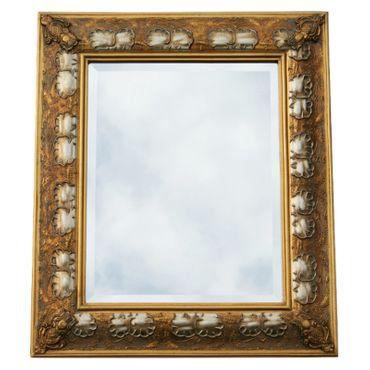 Gold silver two-tone baroque mirror antique look wall mirror 40 x 50 Wood Mirror – image 2