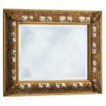 Pomp frame two-tone wall mirror baroque gold silver crystal mirror 60x90 001