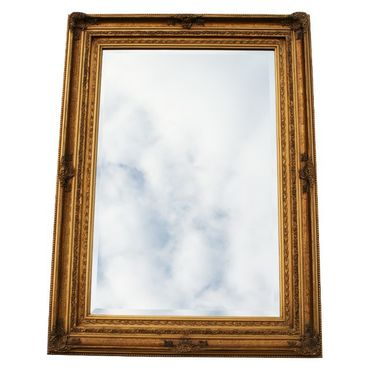 Picture frame made of solid wood with crystal glass mirror wall mirror Baroque 60x90cm/ 24x35 inches – image 2