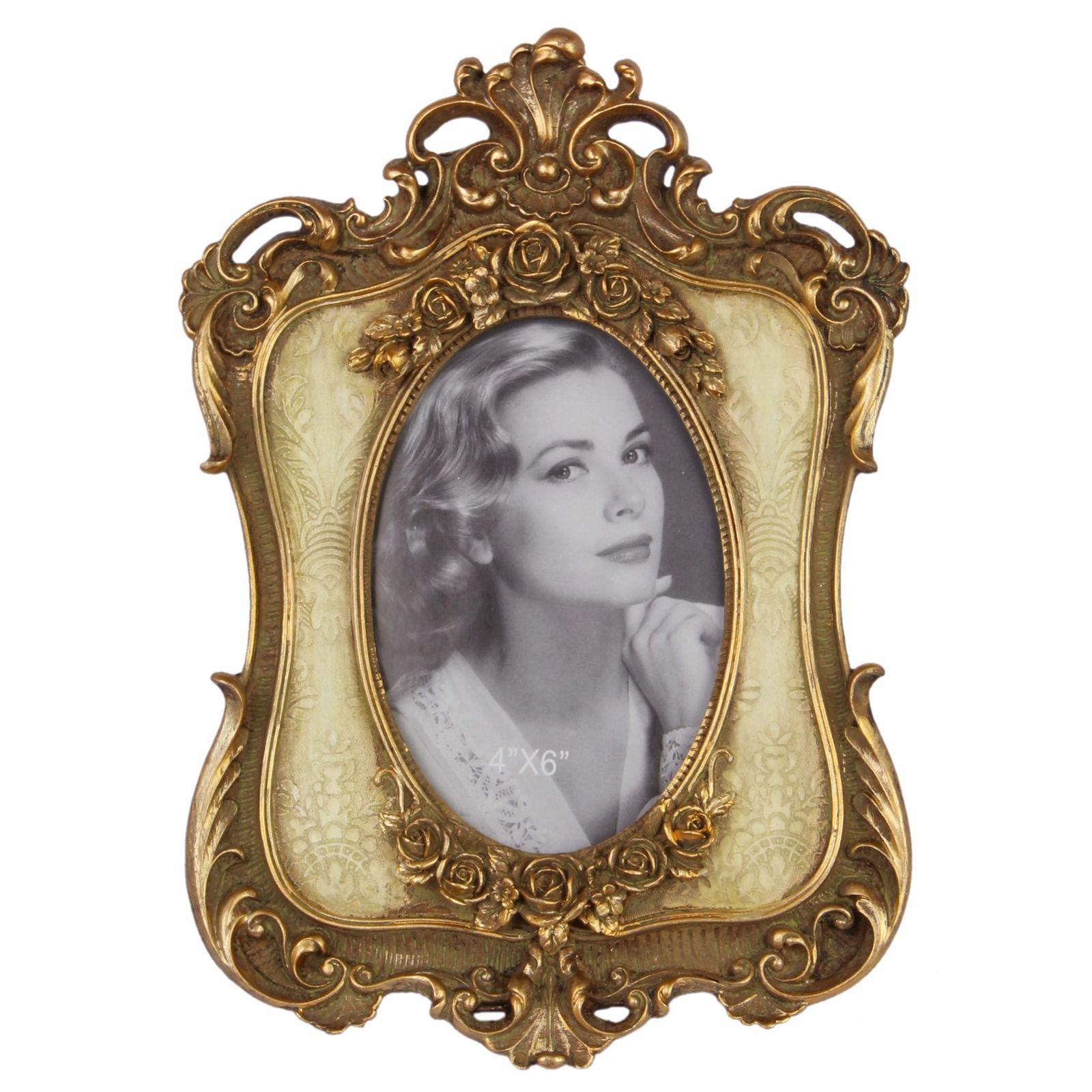 Bilderrahmen antik Foto Resin vergoldet floral Verzierung ...