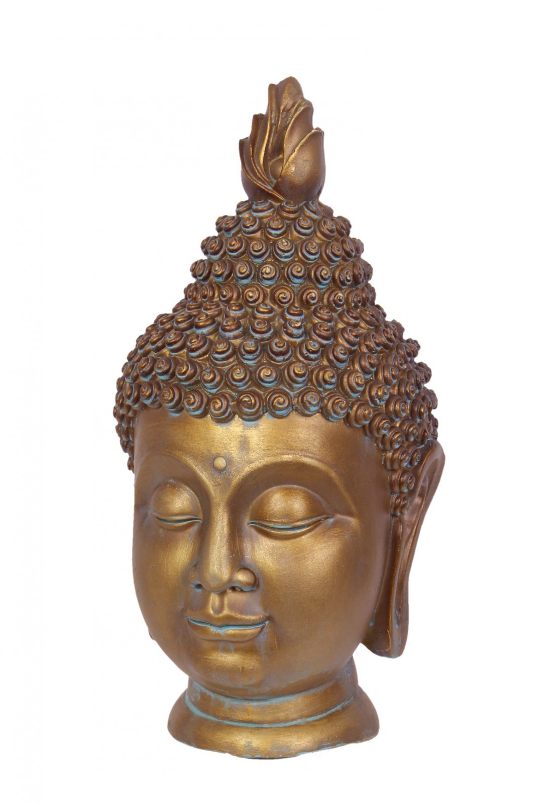 buddha kopf aus resin feng shui figur mit vielen details. Black Bedroom Furniture Sets. Home Design Ideas