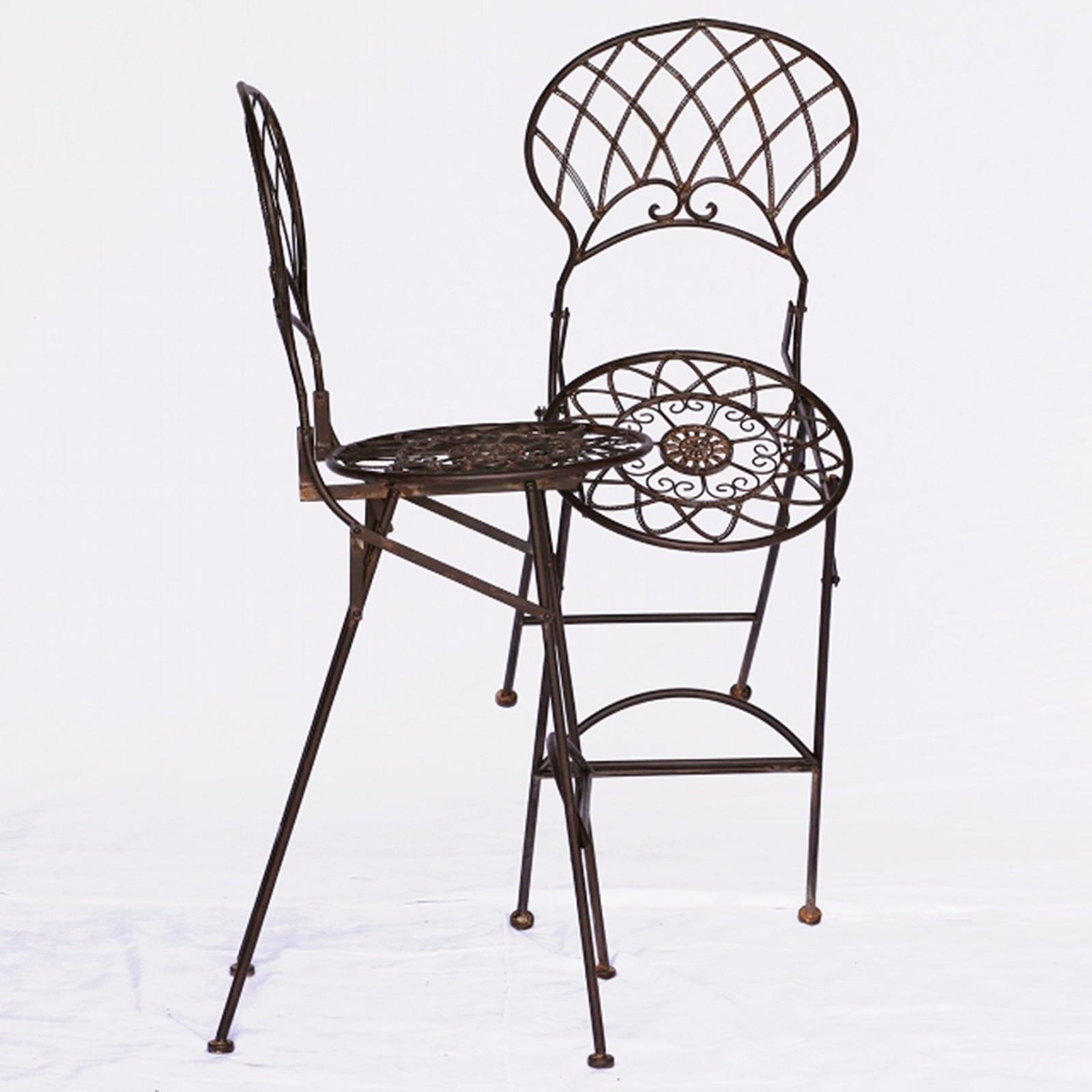 bar m bel outdoor metall barst hle gartenm bel 2er set braun 2 hohe bar st hle. Black Bedroom Furniture Sets. Home Design Ideas