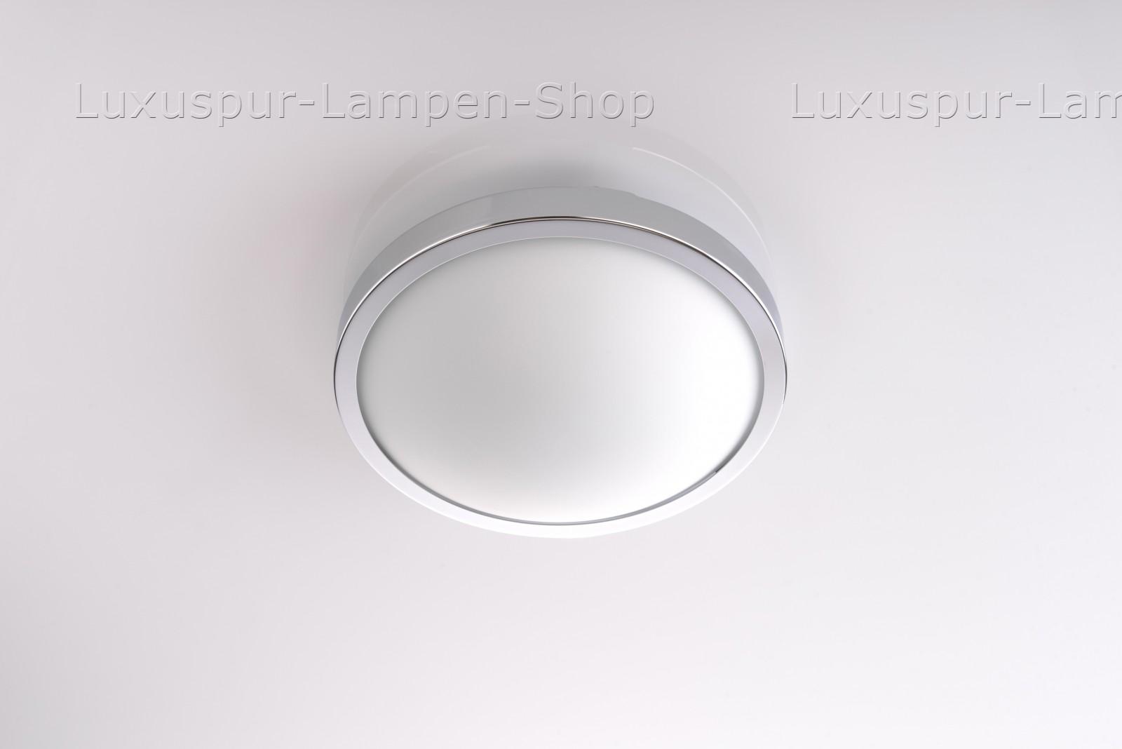 deckenlampe calisto 20 rund aus stahl und glas in chrom. Black Bedroom Furniture Sets. Home Design Ideas