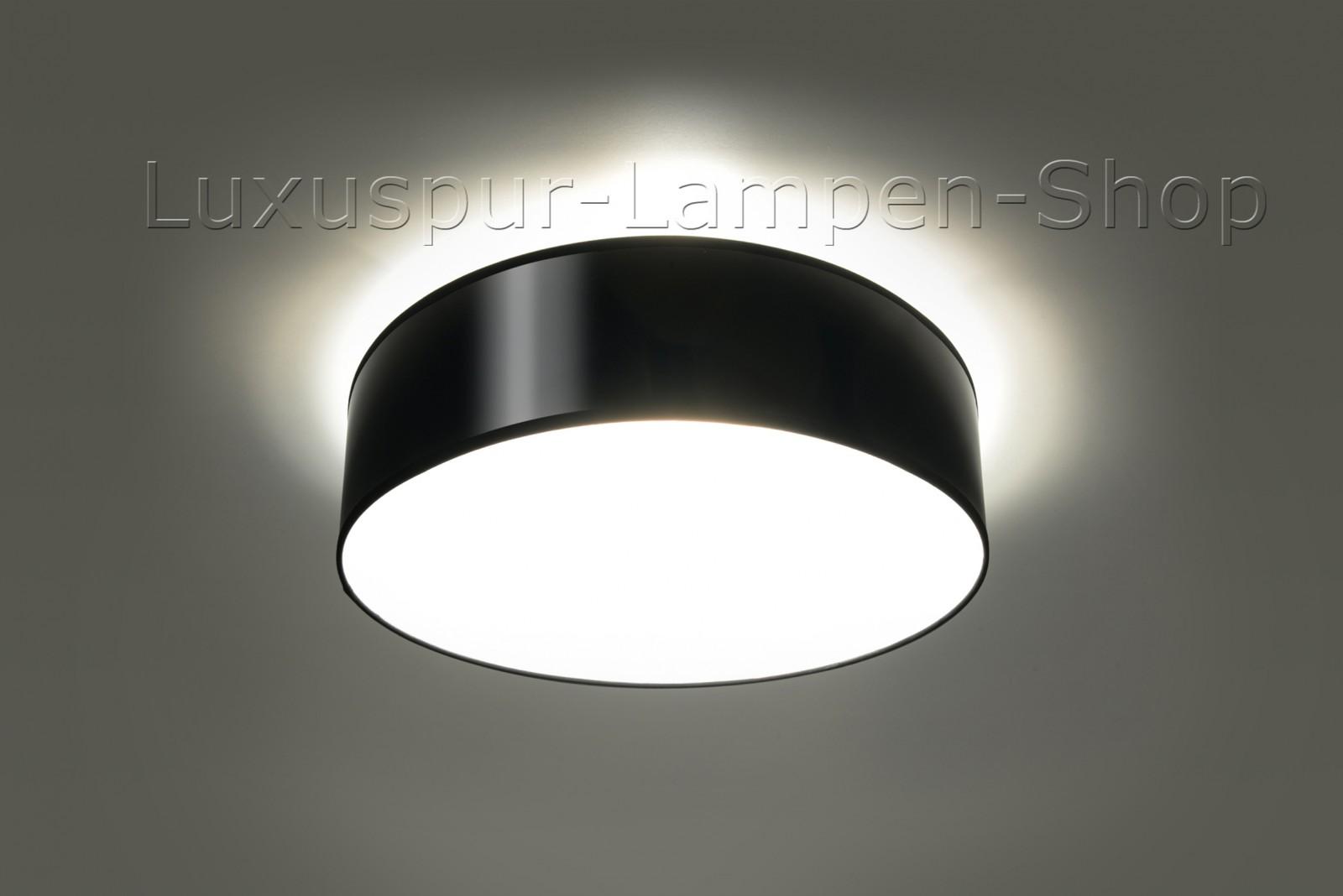 deckenlampe atis 35 aus glas und schwarz lackiertem pvc. Black Bedroom Furniture Sets. Home Design Ideas