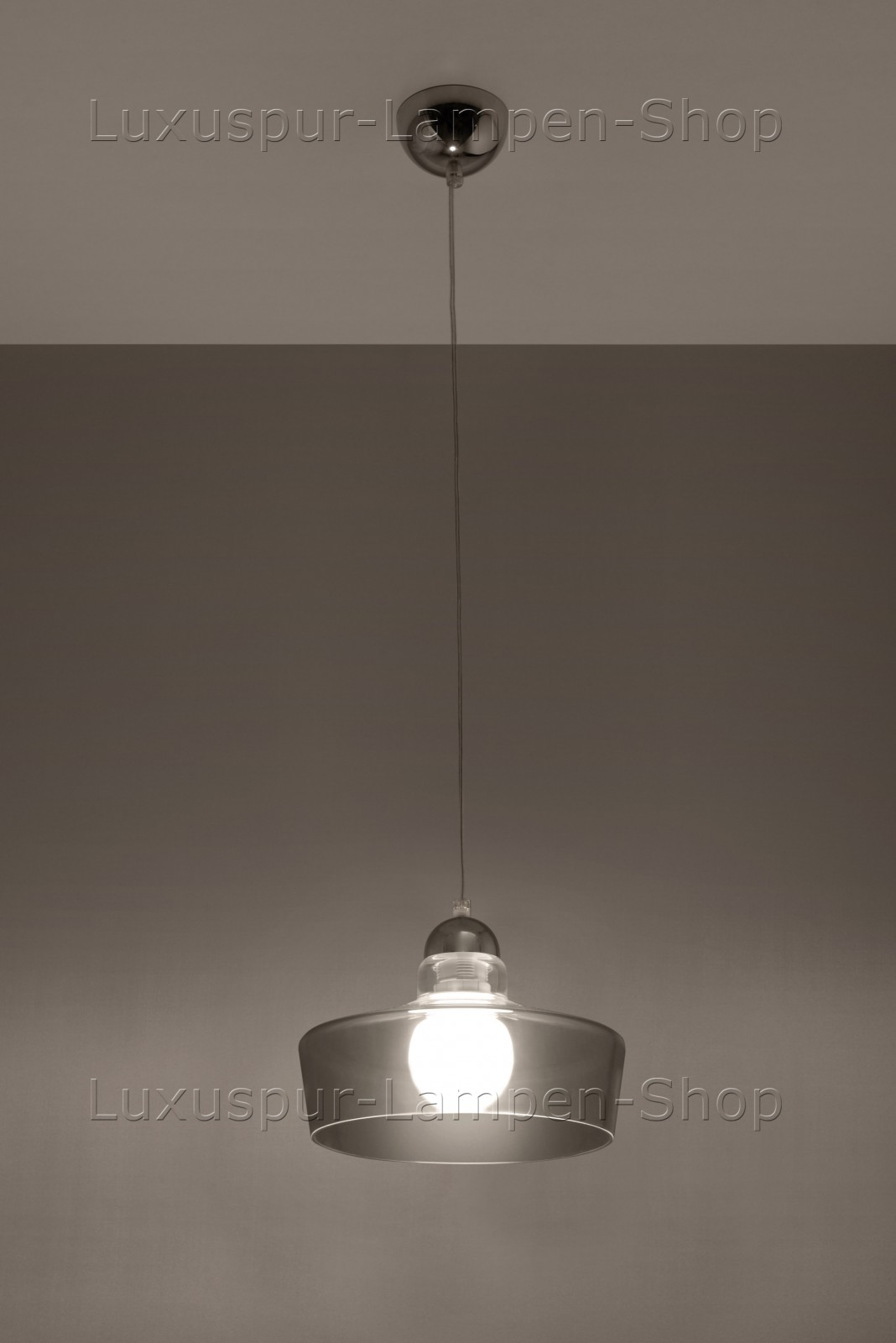 moderne graue pendellampe febo ovale h ngeleuchte aus glas und stahl. Black Bedroom Furniture Sets. Home Design Ideas
